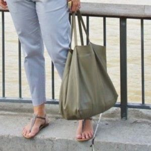 EVERY DAY SHOPPING 100% LEATHER TOTE